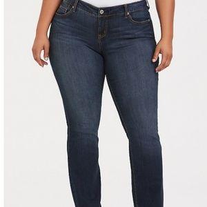 EUC Premium Stretch Barely Boot Jean - Dark Wash